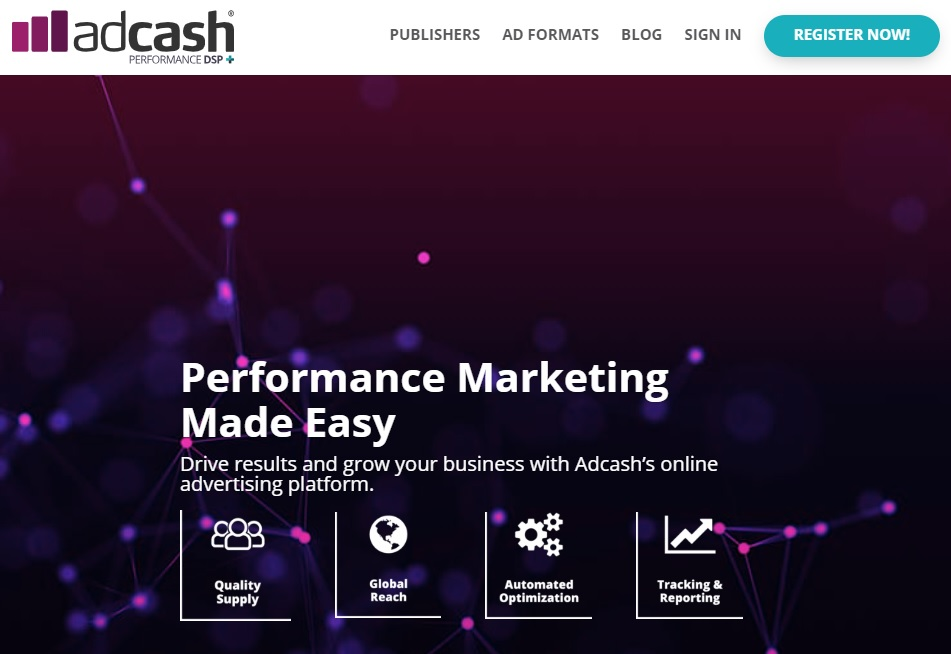 AdCash - CPC, CPM, and CPA based Ad Network