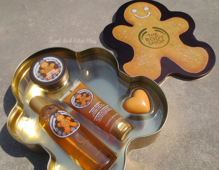 Body Shop Gingerbread man Tin Box