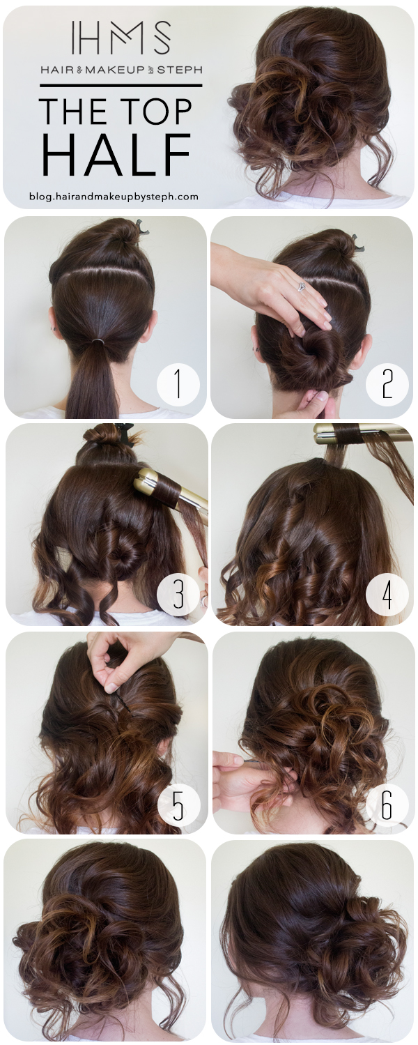 20 Inspired Prom Hair and Makeup Looks: The Top Half Updo Tutorial