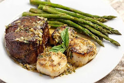 Easy Scampi-Style Steak & Scallops
