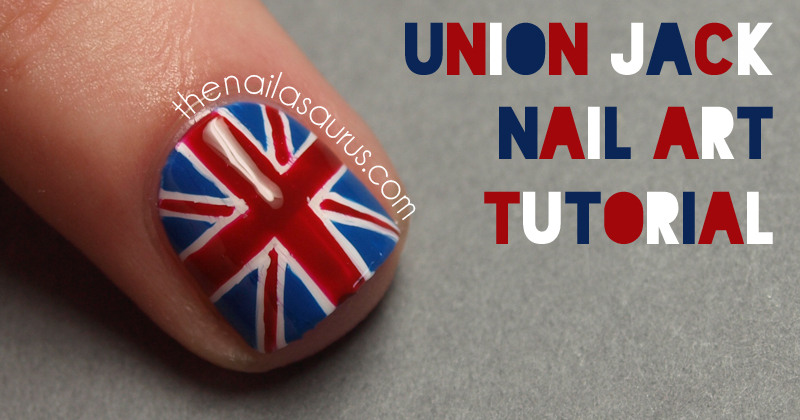 Union Jack Nail Art Tutorial The Nailasaurus Uk Nail Art Blog