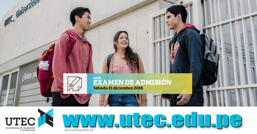Resultados UTEC 2018 (15 Diciembre) Lista Ingresantes - Evaluación de Aptitud - Universidad de Ingeniería y Tecnología - www.utec.edu.pe