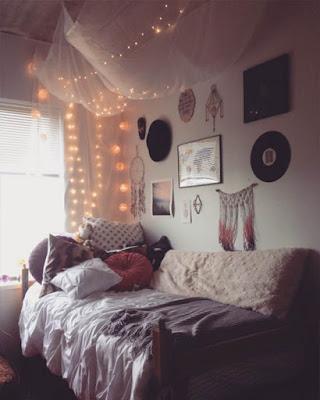 diseño de habitación con luces tumblr