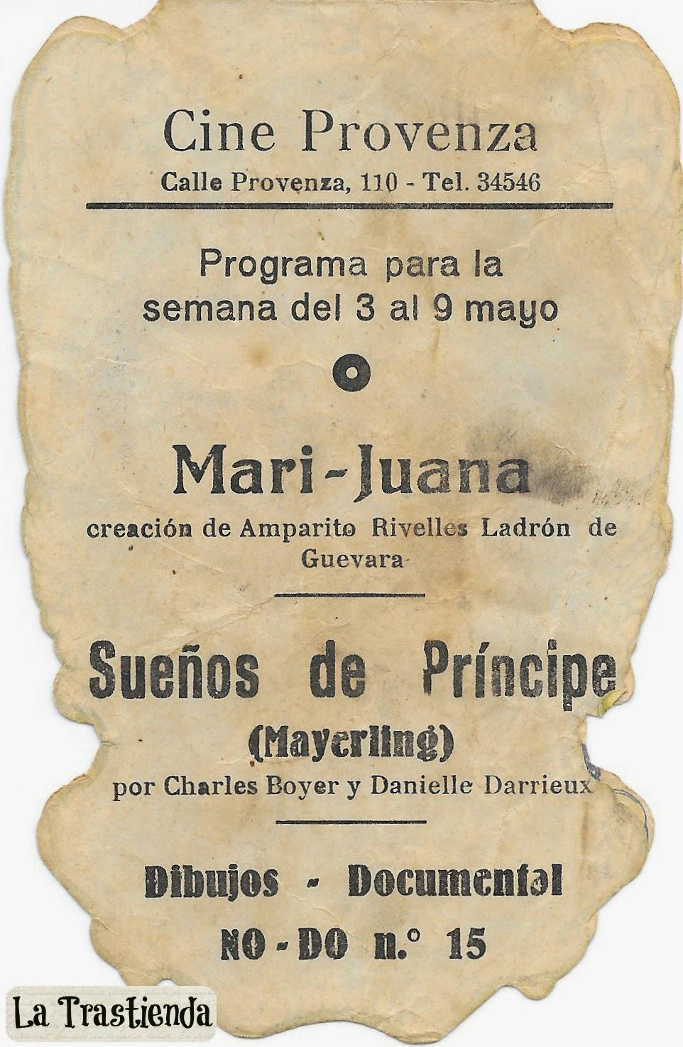Programa de Cine - Sueños de Príncipe - Charles Boyer - Danielle Darrieux