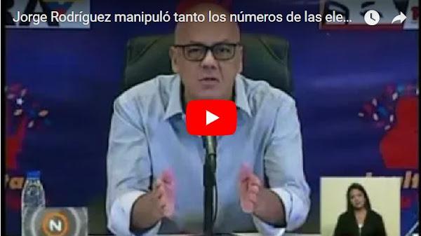 Jorge Rodríguez afirmó que hasta los niños votaron el domingo