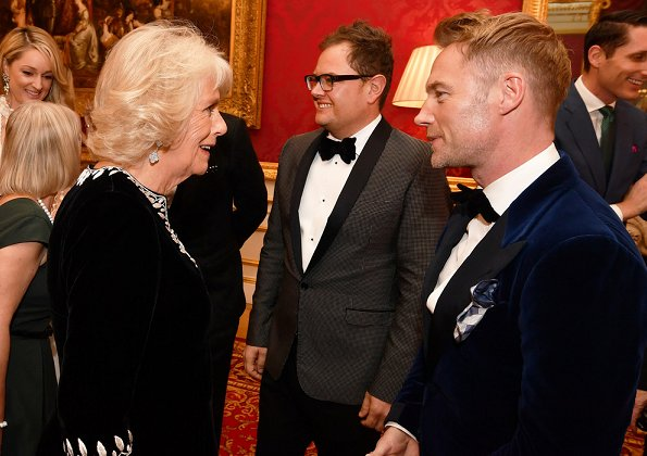 The Duchess of Cornwall attended the Julien Macdonald Fashion Show held for the benefit of National Osteoporosis Society at Lancaster House