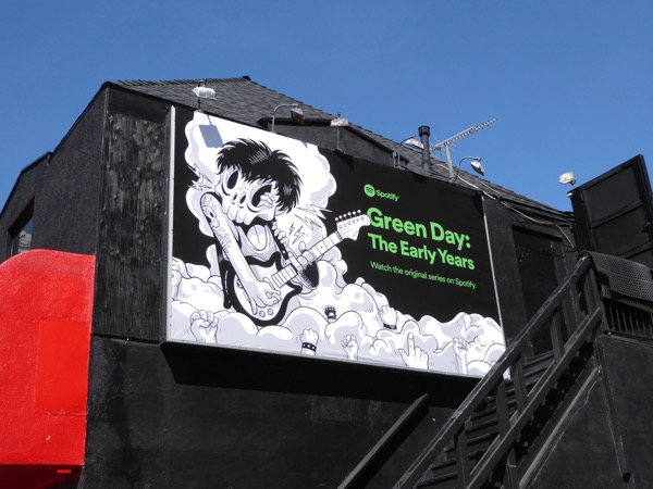 Green Day Early Years Spotify billboard Roxy