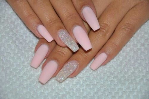 Baby pink nail arts