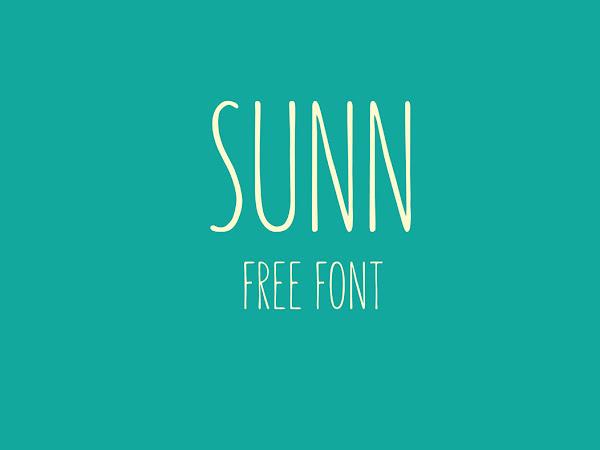 Download SUNN Handwriting Font Free