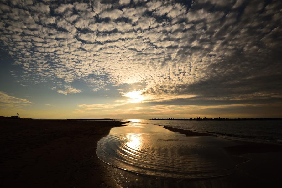 白山市徳光海岸の夕景