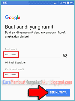 contoh password akun google