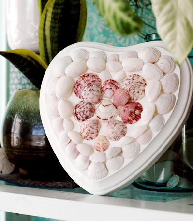 shell heart valentine