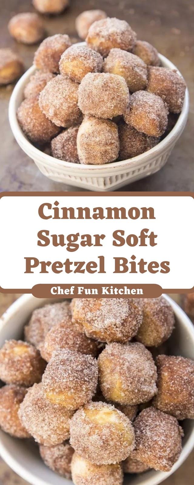 Cinnamon Sugar Soft Pretzel Bites