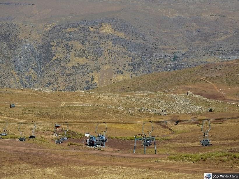 Teleférico no Parque Farellones - Valle Nevado no verão