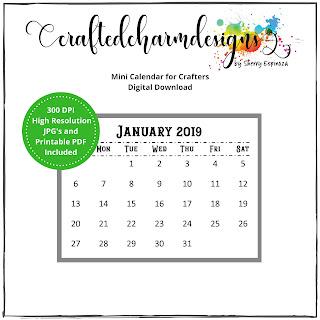 Mini Calendar Printable