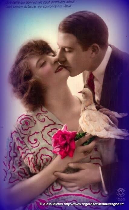 Carte postale saint Valentin, Amour