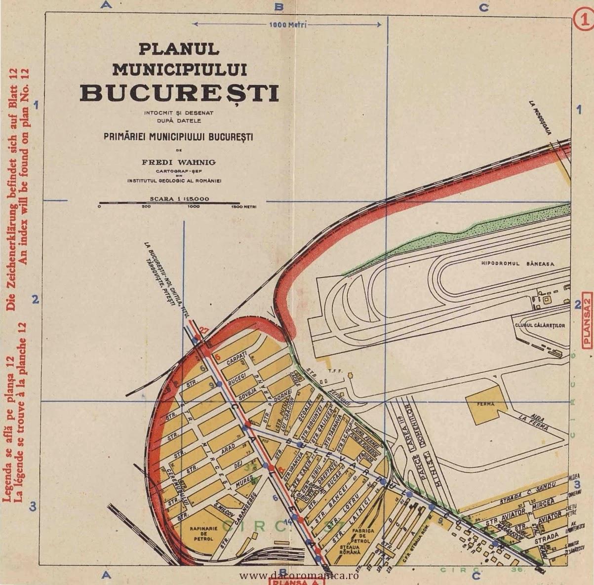 Turist In București Harta Bucuresti 1934