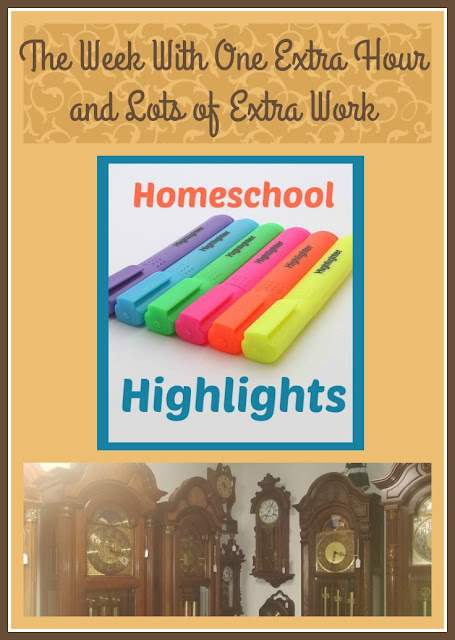 Homeschool Highlights - The Week With One Extra Hour and Lots of Extra Work on Homeschool Coffee Break @ kympossibleblog.blogspot.com