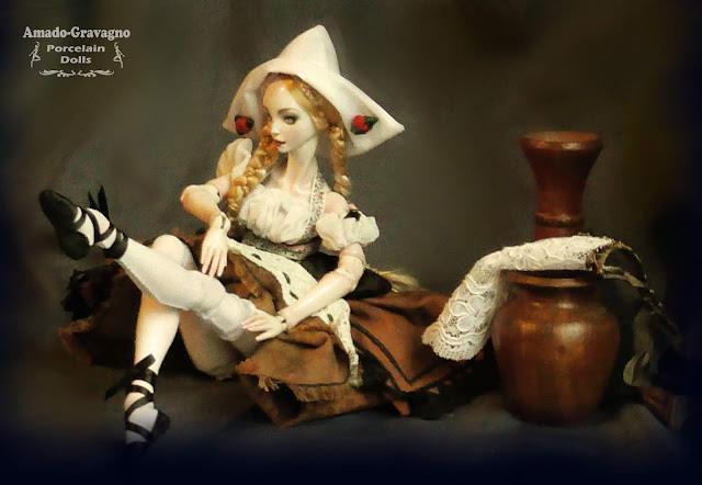 porcelain ball jointed doll bjd argentina escultura arte ooak muñeca