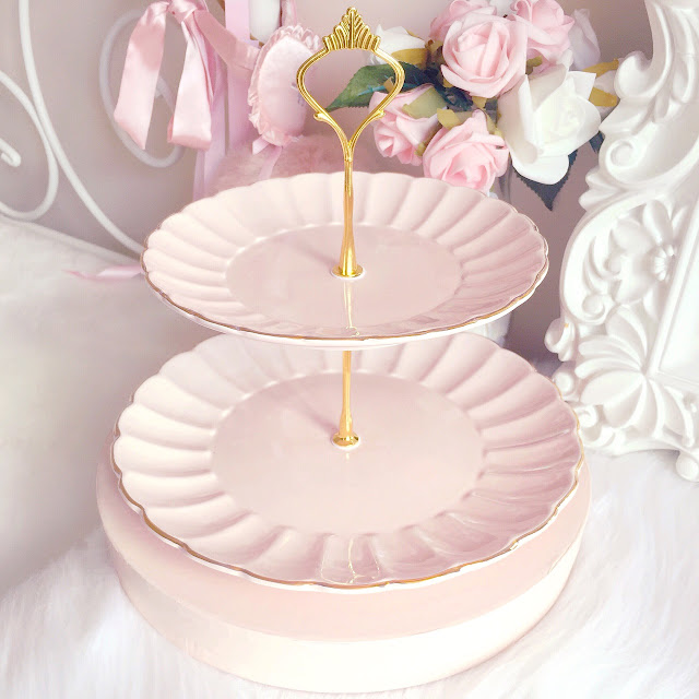 Bombay Duck | Belle Blush Pink Cake Stand