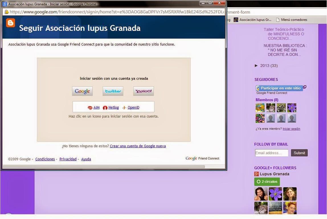 como seguir blog asociacion lupus granada