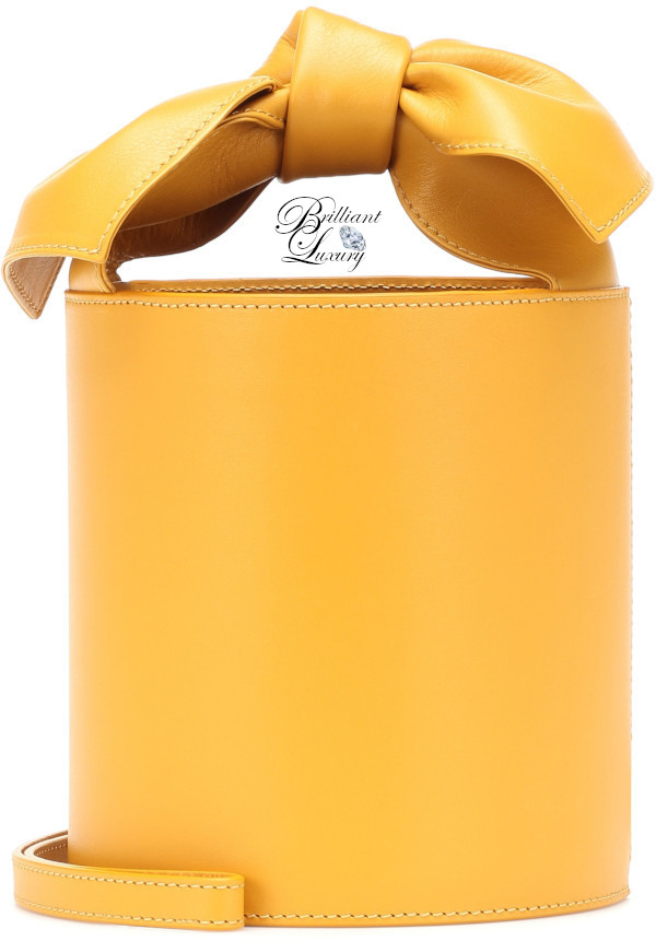 Brilliant Luxury♦Ulla Johnson Sophie mini leather bucket bag in yellow