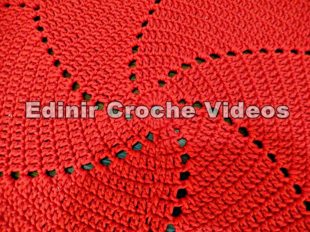 tapete de croche natal aprender croche edinir croche videos curso de croche facebook