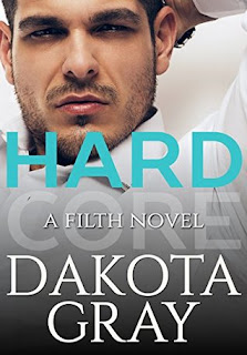 contemporary erotica, romance novel covers, Hardcore by Dakota Gray