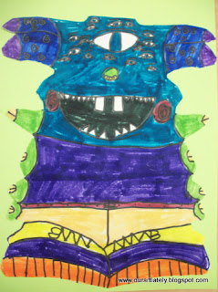 Student drawing of a name monster
