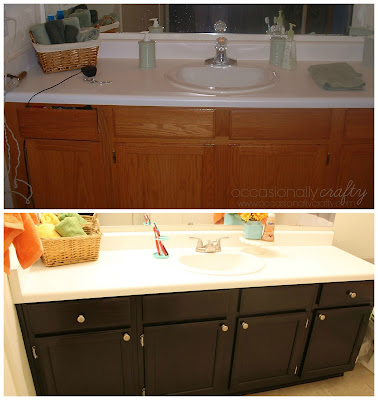 Bathroom Makeover from Occasionally Crafty