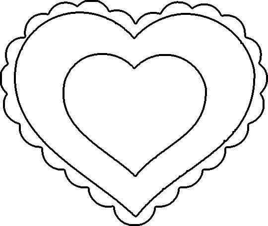 my craft notebook : kalp şablonları...heart template