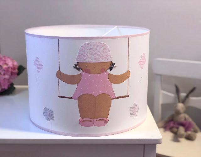Pantallas personalizadas para lámparas de habitaciones infantiles