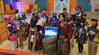 The Kyurangers inside the Orion