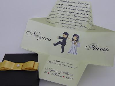 13-convite de casamento personalizado na caixinha