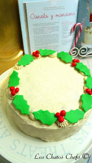 pastel de canela y manzanas