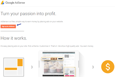 Apply to AdSense via Blogger