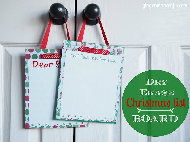 How to make this Dry Erase Christmas List Board! You never have to loose those paper lists again!