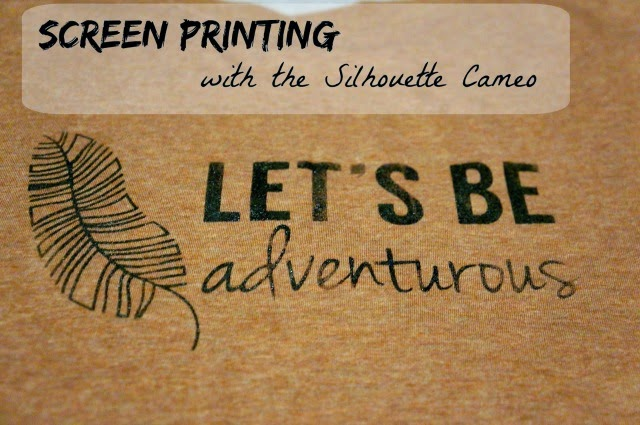 Silhouette Cameo, screen printing