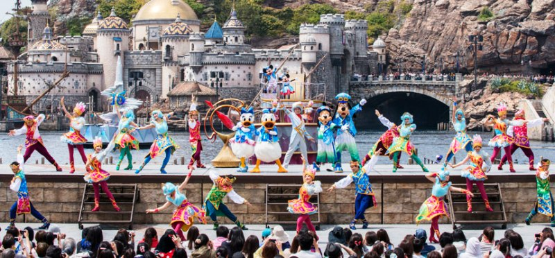 tokyo disneysea 15th anniversary christmas wishes showtime