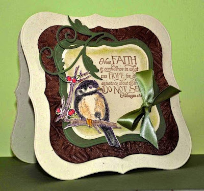 ODBD Chickadee Single, ODBD Custom Chickadee Die, ODBD Scripture Collection 7, Customer Card of the Day Gwen aka Love Stampin