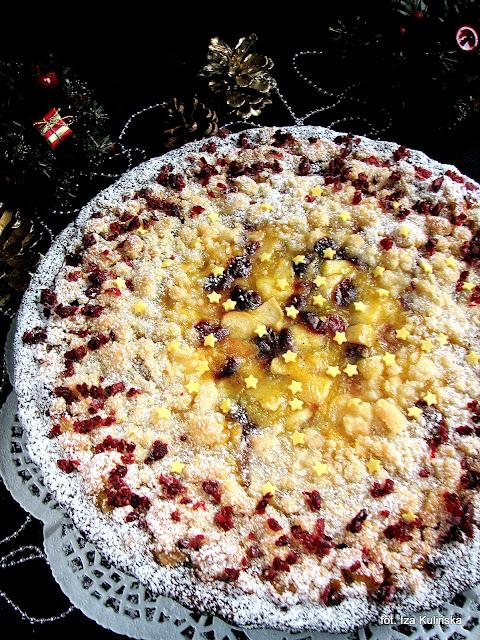 Świąteczne ciasto z owocami - szarlotka świąteczna
