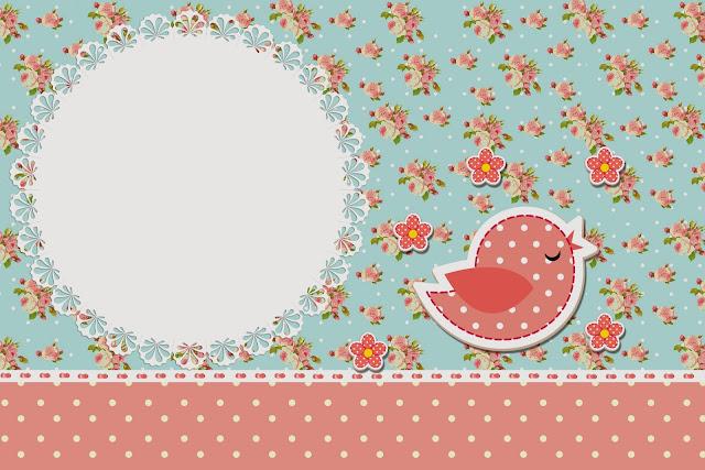 Para hacer Invitaciones, Tarjetas o Marco de Fotos para Imprimir Gratis de Pájaros y Mariposas.