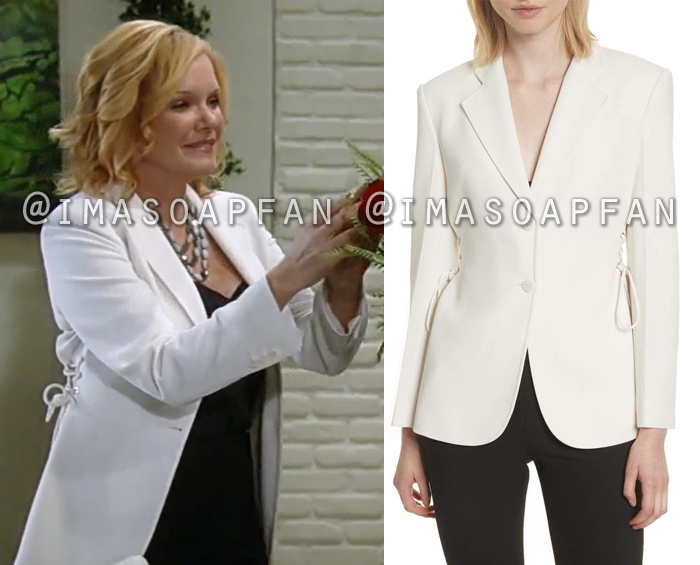 Ava Jerome, Maura West, Ivory Blazer with Laced Sides, Theory, General Hospital, GH