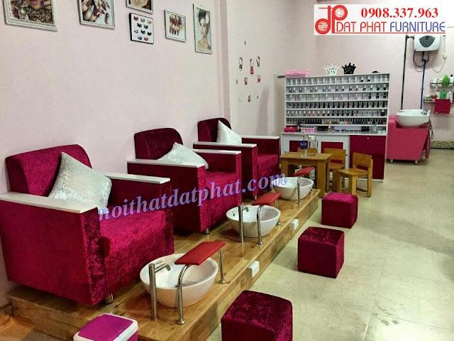thiết kế nội thất shop nail, thiết kế shop nail diện tích nhỏ,