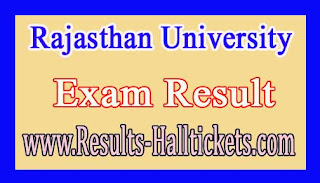 Rajasthan University MA Previous Economics Rev 2016 Exam Results