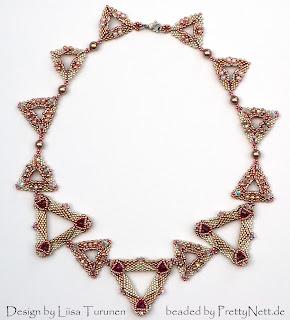 """Necklace """"Serval"""" beaded by PrettyNett.de"""