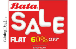 Bata Men & Women Footwear Flat 60% OFF From Rs 359 at Amazon