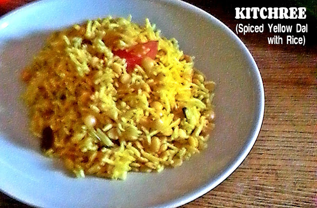 Kitchree (Spiced Yellow  Dal with Rice) Recipe @ treatntrick.blogspot.com