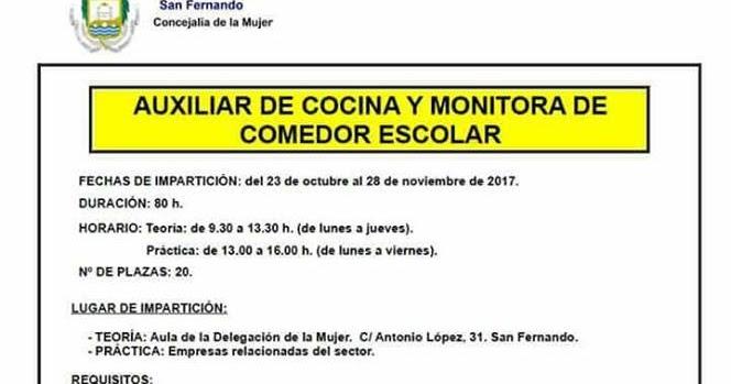 Empleo y formaci n provincia de c diz formaci n auxiliar for Trabajo de comedor escolar