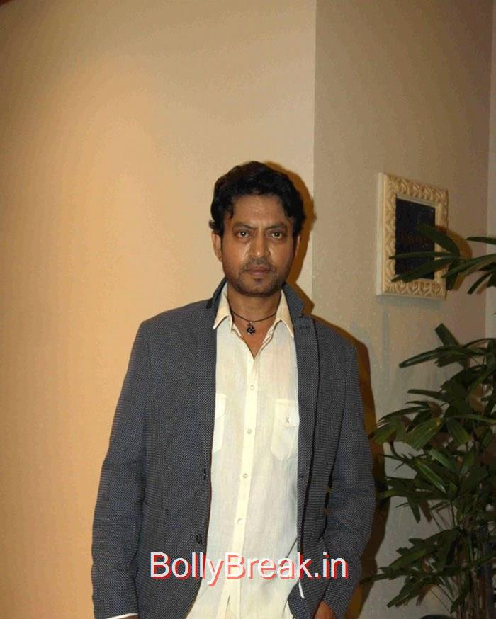 Irrfan Khan, Deepika Padukone in Jeans & Top at Piku movie Press Conference